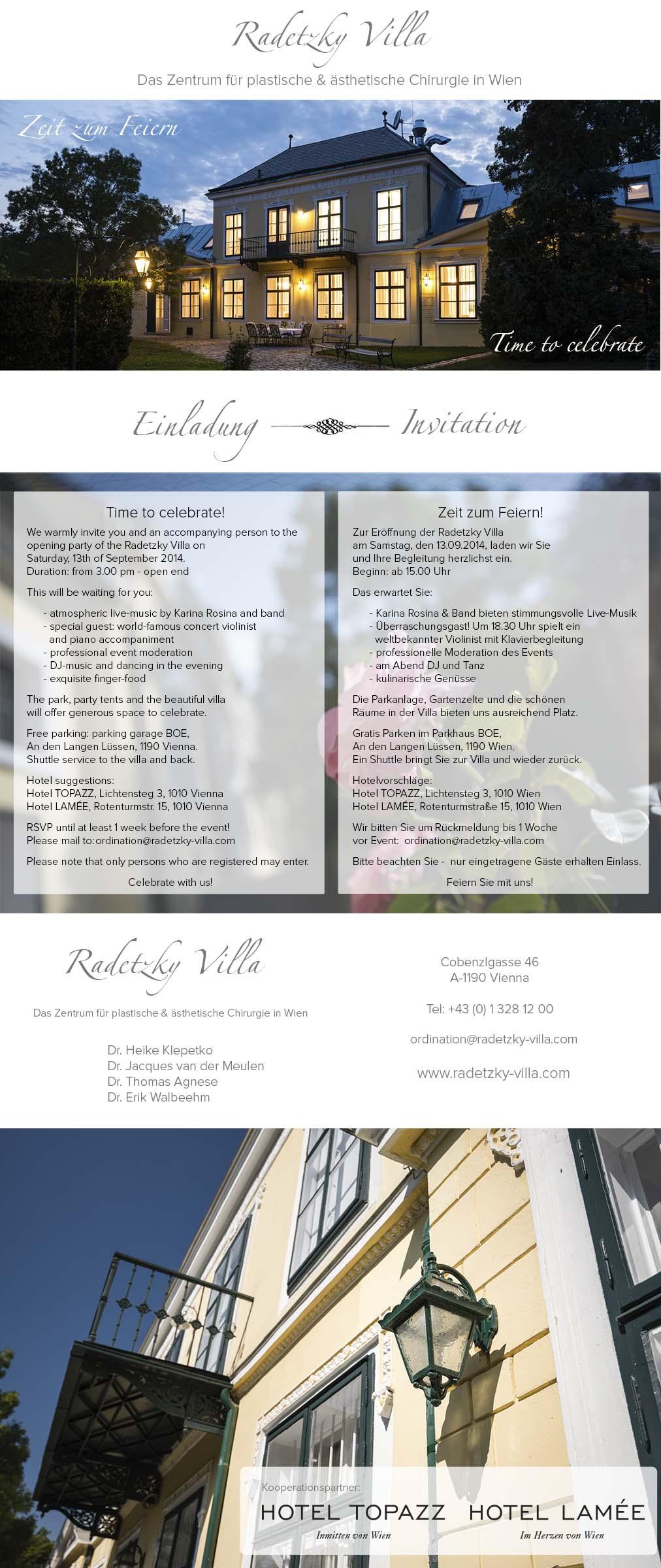 Invitation_Einladung_Radetzky Villa_13.09.2014